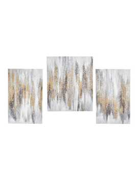 Glittered Abstract Canvas 3 Piece Art by Pier1 Imports