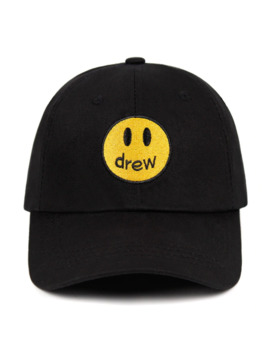 Justin Bieber Drew Dad Hat 100% Cotton Smiley Face Drew House Baseball Cap Fragment Hat Snapback Unisex Street Trend Caps by Ali Express.Com