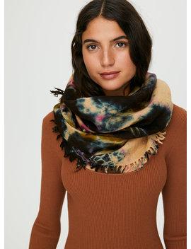 Tie Dye Wool Scarf by Wilfred