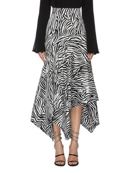 'lonnie' Zebra Stripe Asymmetric Handkerchief Skirt by Solace London