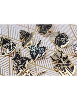 Egyptian Pantheon Enamel Pins by Etsy