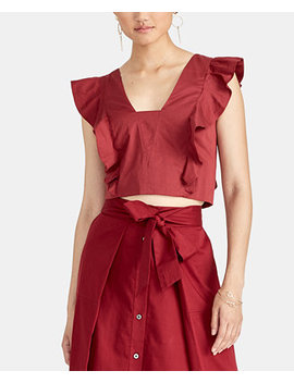 Marica Cropped Ruffled Top by General