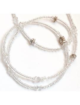 Herkimer Diamond Waist Beads, Precious Gem Waist Beads, Herkimer Diamond Belly Chain, Crown Chakra Crystal Body Jewelry, African Waist Beads by Etsy