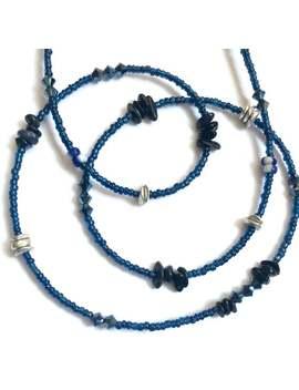 Sapphire Waist Beads, Precious Gem Waist Beads, Blue Gemstone Belly Chain, Sapphire Body Jewelry, African Waist Beads by Etsy