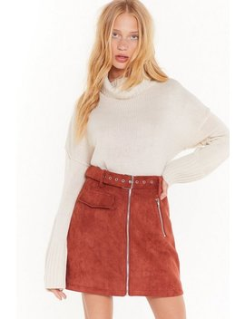 Don't Cry Because Knits Over Turtleneck Sweater by Nasty Gal