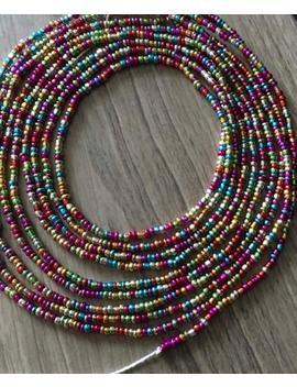 Rainbow Waist Beads by Etsy