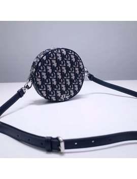 15 Cm Classic Auth Di0 R0 Blique Saddle Vintage Circular Shoulder Bag Handbag by Etsy