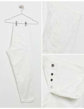 Asos Design Classic Rigid Jeans In White by Asos Design