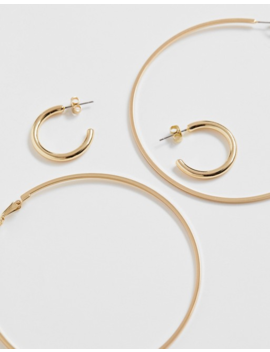 Pieces Multipack Gold Hoops by Pieces