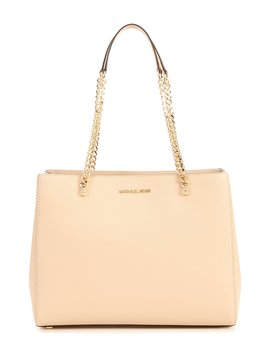 Ellis Large Leather Chain Tote by Michael Michael Kors