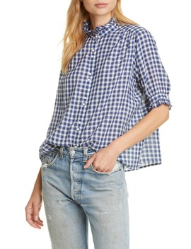 The Cedar Plaid Shirt by The Great.