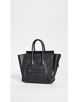 Celine Black Luggage Mini by What Goes Around Comes Around