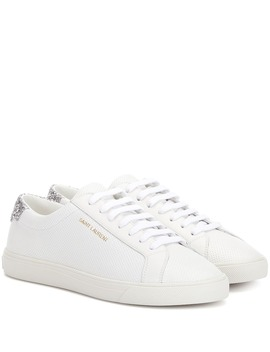 Andy Perforated Leather Sneakers by Saint Laurent
