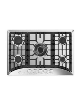 30 In. Gas Stove Cooktop With 5 Sealed Italy Sabaf Burners In Stainless Steel by Empava