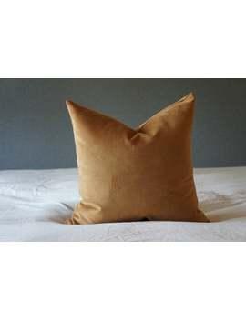 "Rust Orange Velvet Throw Pillow Cover 18"" X 18"" Mid Century Modern Farmhouse Throw Pillows Wabi Sabi Fall Decor Bolster Halloween Home Decor by Etsy"