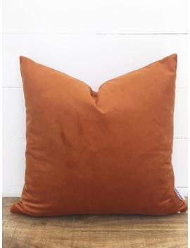 Rust Velvet Cushion Cover by Etsy