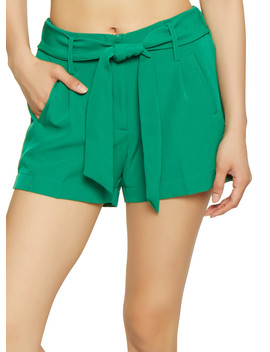 Tie Front Dress Shorts by Rainbow