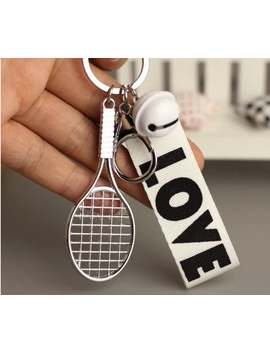 Tennis Ball Keychain With Bell, Tennis Gifts by Etsy