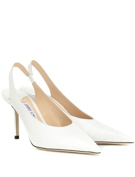 Ivy 85 Croc Embossed Leather Pumps by Jimmy Choo