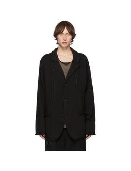 Black Knit Blazer by Yohji Yamamoto
