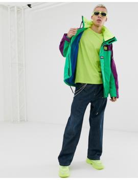 Diesel – J Futoshi – Jacke Mit Neonfarbigem Farbblockdesign Und Versteckter Kapuze by Asos