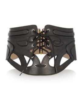 Cutout Leather Waist Belt by Mc Q Alexander Mc Queen