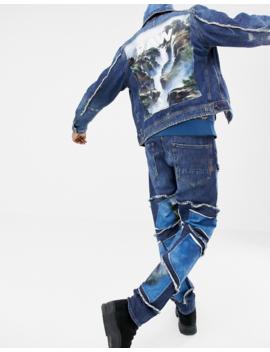G Star X Jaden Smith – D Staq – Jacke Mit Wasserfallgrafik In Blau by Asos
