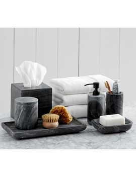 Black Marble Accessories, Tray by Pottery Barn