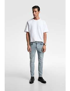 Denim Broek In Slim Fit Jeansheren by Zara