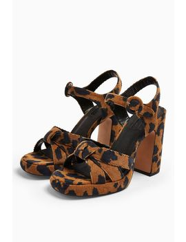 Ripple Leopard Print Platform Shoes by Topshop