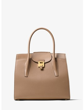 Bancroft Pebbled Calf Leather Weekender by Michael Kors Collection