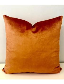 Luxury Dark Orange Velvet Pillow Cover, Orange Pillow, Velvet Pillow, Throw Pillow, Decorative Pillow, Velvet Cushion, Orange Velvet Pillows by Etsy