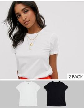 Asos Design   Confezione Da 2 T Shirt Girocollo In Cotone Organico   Risparmia by Asos Design