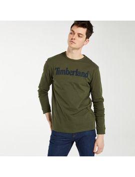 Men's Long Sleeve Linear Logo Ringer T Shirt by Timberland