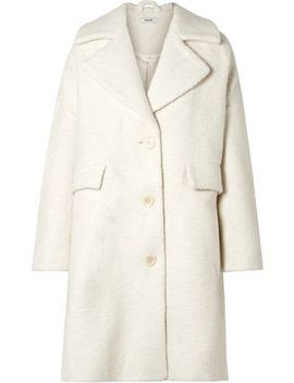 Oversized Wool Blend Bouclé Coat by Ganni