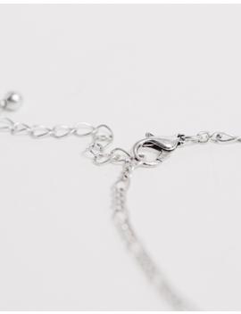 Asos Design – Silberfarben Polierte Halskette Mit Rosenanhänger by Asos