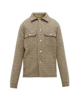 Checked Wool Tweed Jacket by Maison Margiela