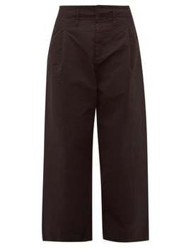 Pleated Cotton Crepe Worker Trousers by Craig Green