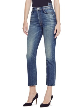 The Dazzler Shift High Waist Ankle Straight Leg Jeans by Mother