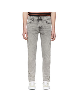 Grey Thin Finn Jeans by Nudie Jeans