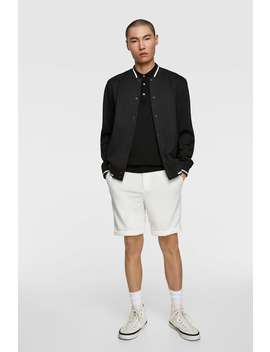 PiquÉ Bomber Jacket Bomber Jackets Man by Zara