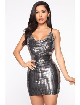 Life Of The Party Sequin Mini Dress   Silver by Fashion Nova