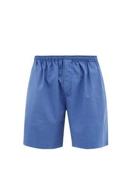 Wide Leg Cotton Blend Shorts by Raey