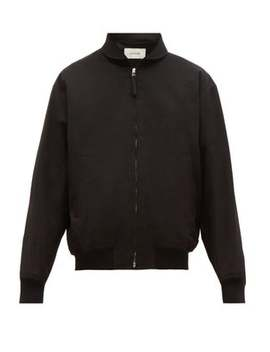 Zip Front Cotton Twill Bomber Jacket by Lemaire