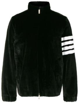 4 Bar Intarsia Dyed Fur Jacket by Thom Browne