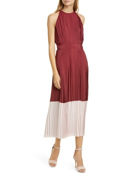 Aleanna Colorblock Pleated Dress by Joie