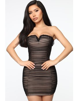 Melissa Mesh Tube Mini Dress   Black by Fashion Nova