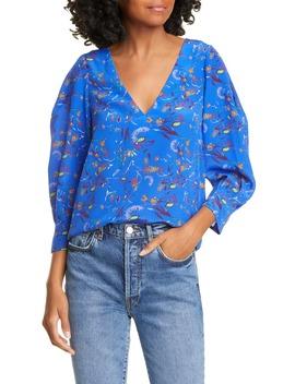 Rena Floral Silk Blouse by Tanya Taylor