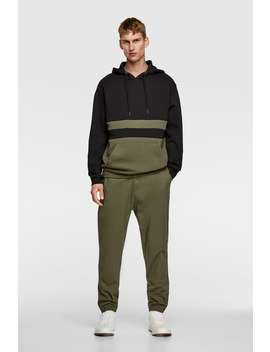 Block Color Hooded Sweatshirt Hoodies Sweatshirts Man by Zara