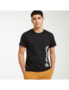 Men's Offset Linear Logo T Shirt by Timberland